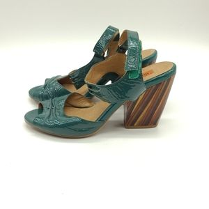 Miz Mooz Marnie Multi Color Wooden Heel Sandals